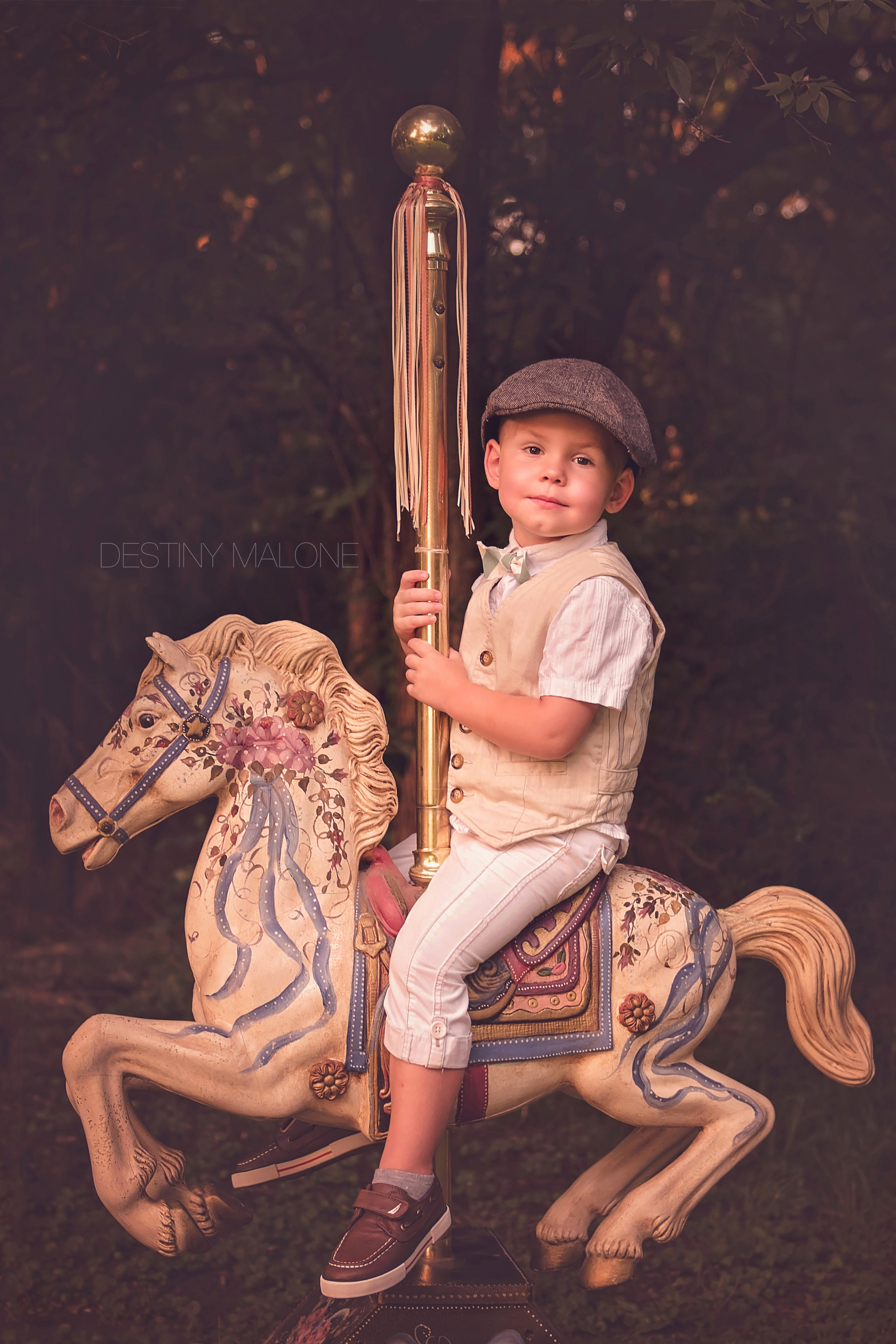 carousel prop photography