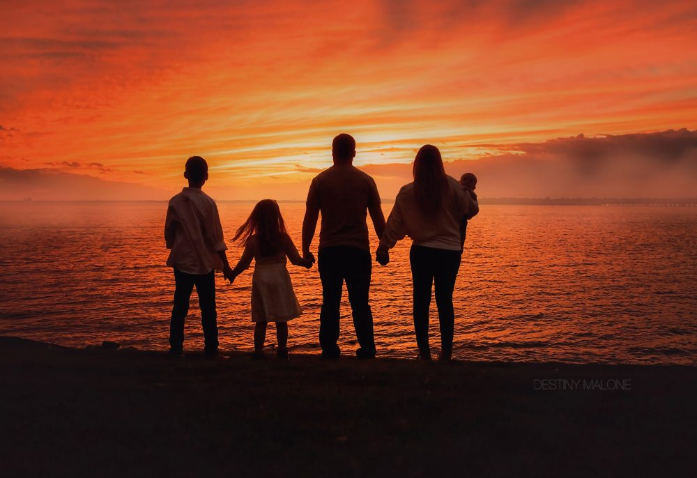 Texas family photography silhouette